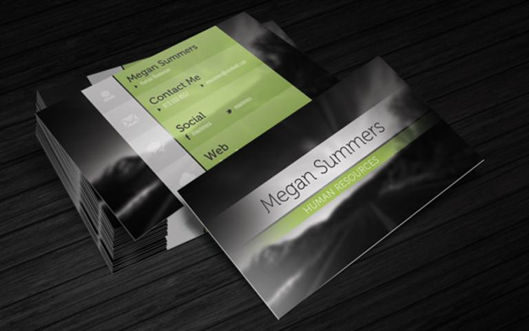 Business Card Template – Simple Scene (Small)