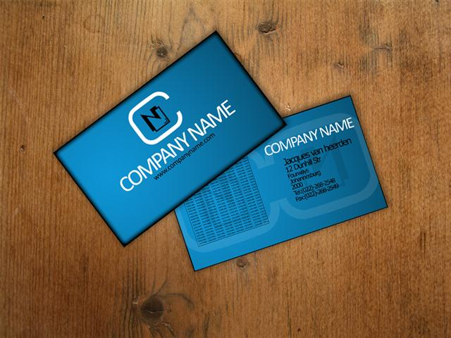 Business Card template 1 (Small)