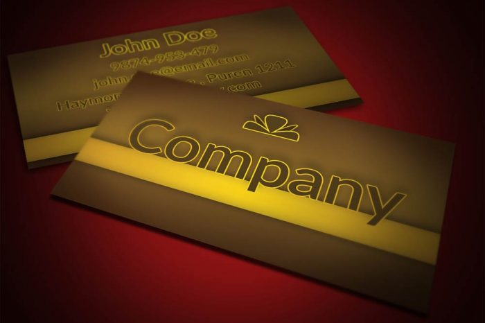 Candy Store Business Card Template