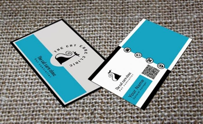 Cat Business Card Template (Small)