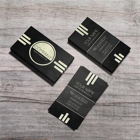 Caveat - Art Deco Business Card (Small)