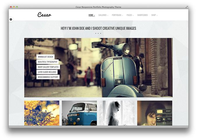 Cesar Responsive Portfolio Photography Theme (Small)