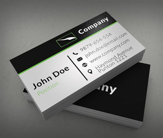 Clean Corporate Business Card Template (Small)