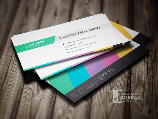 Clean & Creative Multicolor Business Card Template (Small)