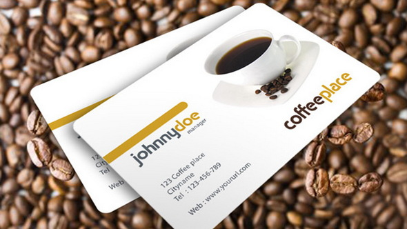 Coffee place Business Card Template