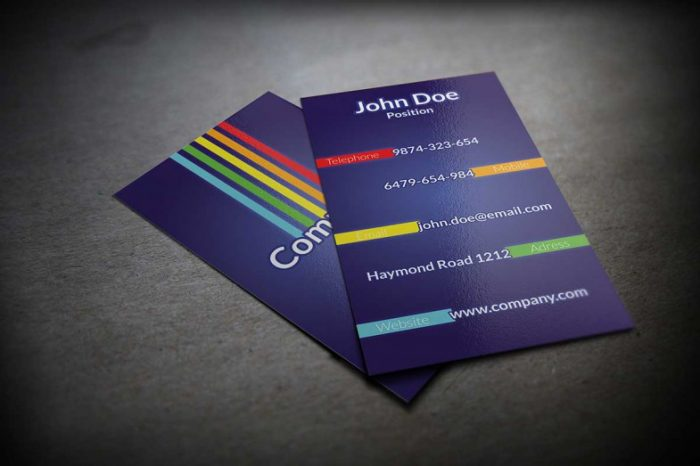 Colorful Business Card PSD Template