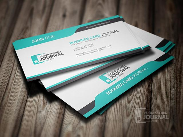 Cool Blue Creative Business Card Template (Small)