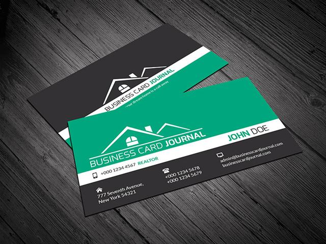 Corporate Design Realtor Business Card Template (Small)