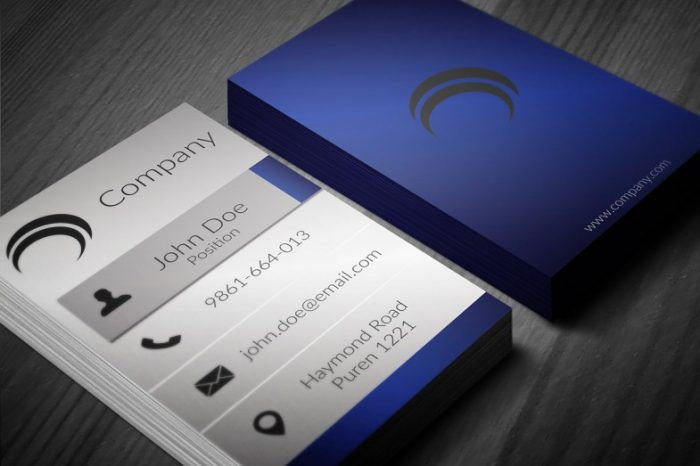 creative blue business card template