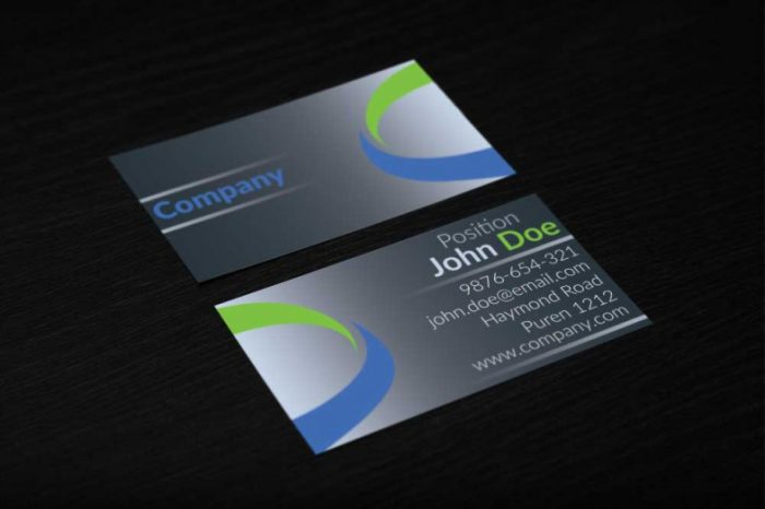 Creative Corporate Business Card Design TechClient