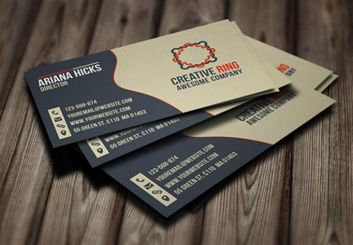 Creative Ring Business Card Template (Small)