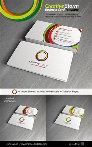 Creative Storm Business Card Template (Small)