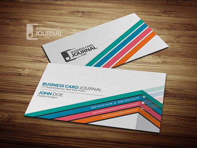 Creative & Unique Corporate Business Card Template (Small)