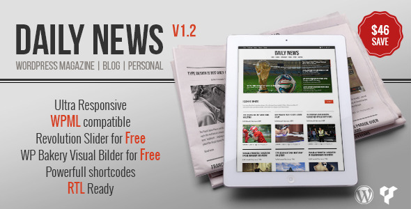 DAILYNEWS - Magazine  Blog Personal WordPress Theme