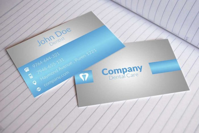 Dental Business Cards Design