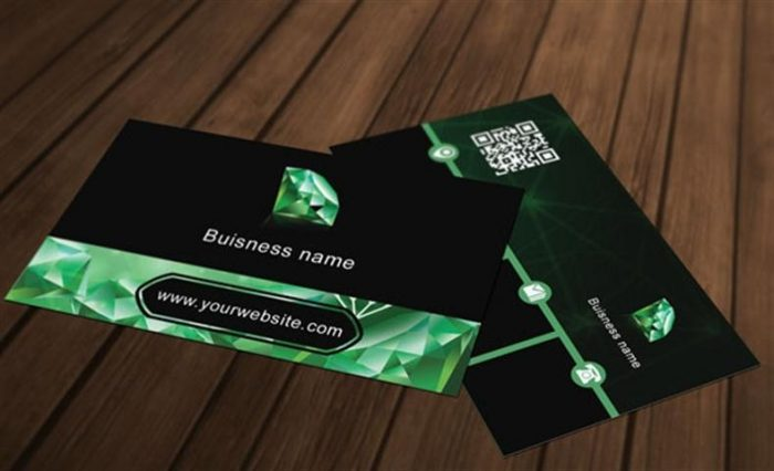 Diamond Business Card Template (Small)