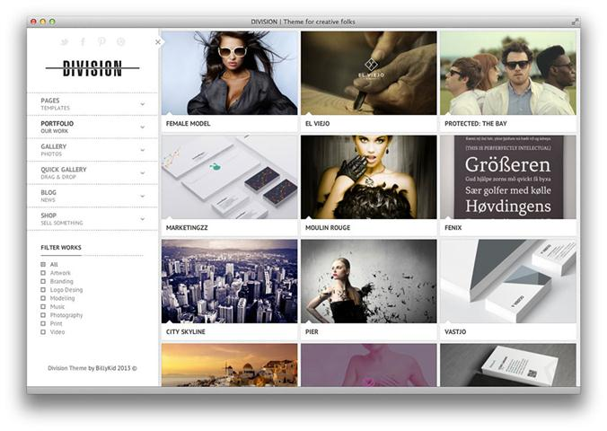 Division – Fullscreen Portfolio Photography Theme (Small)