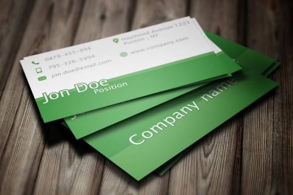 Elegant Green Business Card PSD