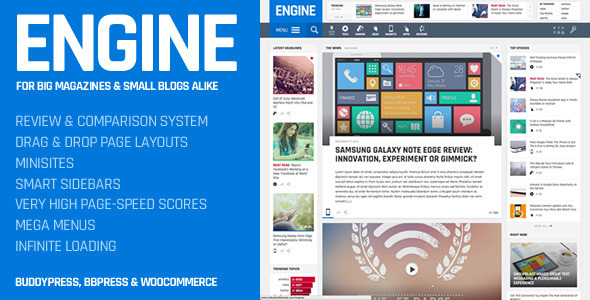 Engine - Drag and Drop News Magazine w  Minisites