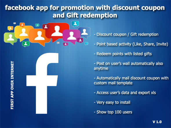 Facebook Promotion with Discount Coupon and Gifts