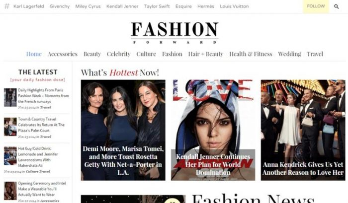 FashionForward – Fashion Magazine Theme (Small)