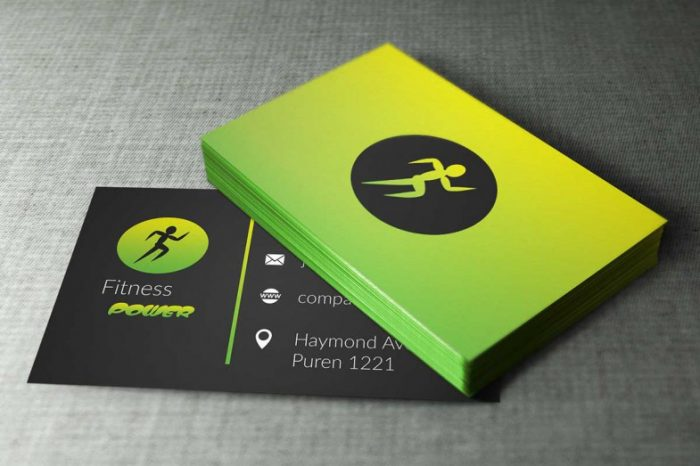 Fitness Business Cards Design