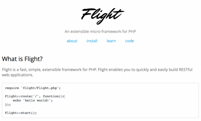 Flight-PHP