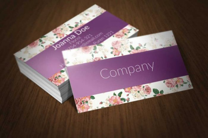 130 best free psd business card templates techclient floral business card template download fbccfo Image collections