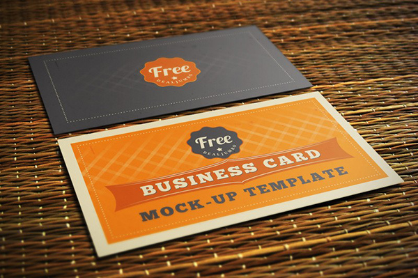 60 best free high quality psd business card mockups techclient free business card mockup template reheart Images