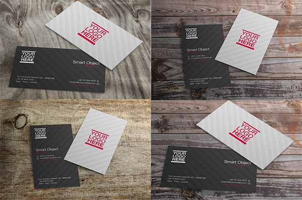 Free PSD Mockup Business Card Vol 2