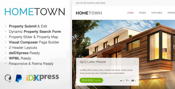 Hometown - Real Estate WordPress Theme