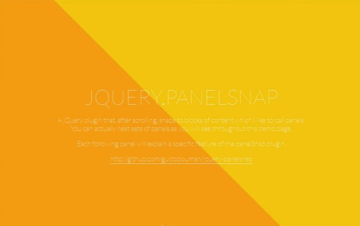 JQuery-PanelSnap