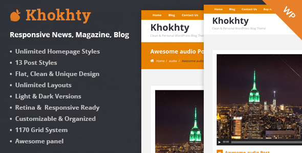 Khokhty - Responsive WordPress News, Magazine, Blog