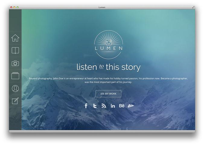 Lumen – Responsive Photography WordPress Theme (Small)