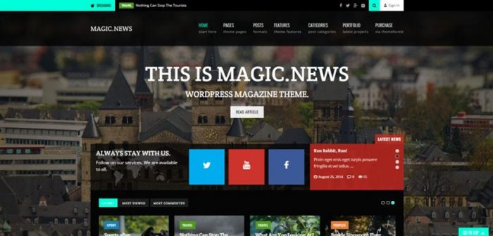 MagicNews – Responsive WordPress Magazine Theme (Small)