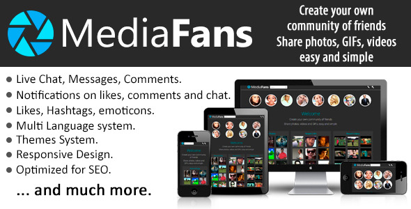 MediaFans - Share photos, GIFs and videos