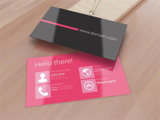 Metro Inspired Clean Business Card (Small)