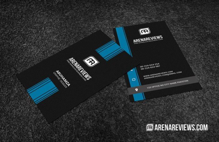 Minimalist Vertical Free Business Card Template (Small)