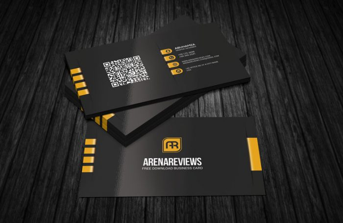 130 best free psd business card templates techclient modern corporate black business card template accmission Images