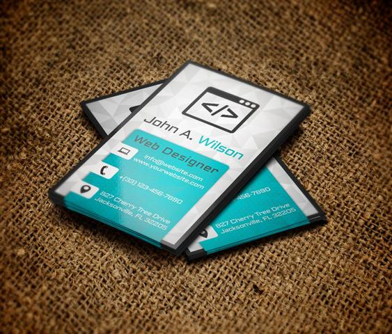 New Vertical Business Card (Small)
