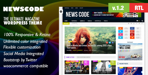 Newscode-WordPress Review Magazine News Theme