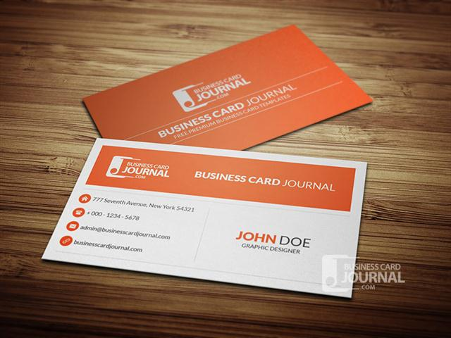 Professional & Minimal Corporate Business Card Template (Small)