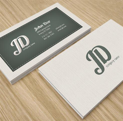 Professional Retro Business Card (Small)