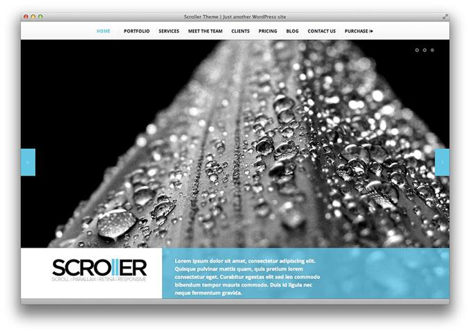 Scroller – Parallax, Scroll & Responsive Theme (Small)