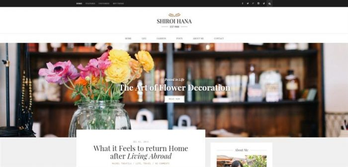 Shiroi Hana – An Elegant Blogging Theme (Small)