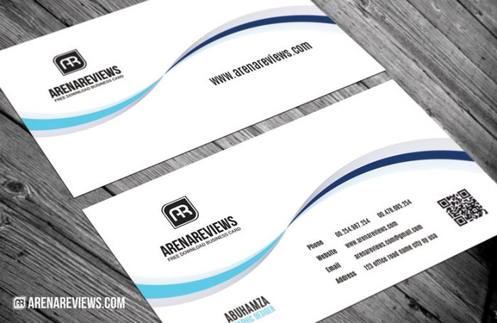 Simple Clean White Corporate Business Card