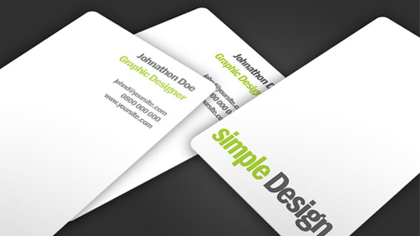Simple Design Business Card PSD