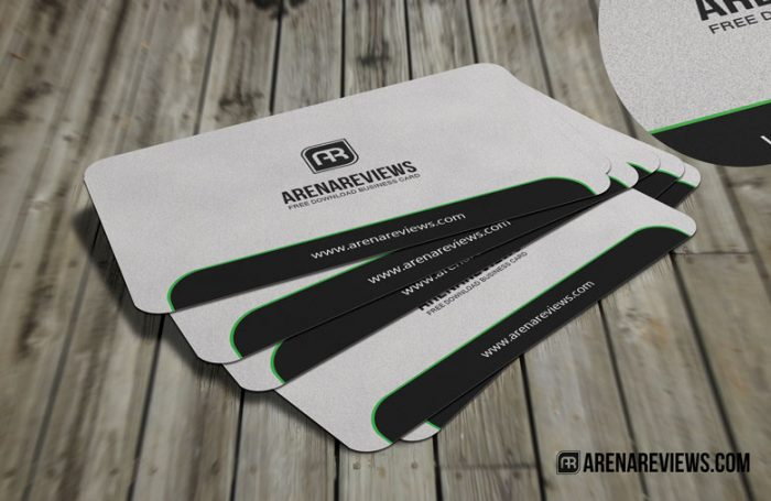Sleek Rounded Corner Free Business Card Template