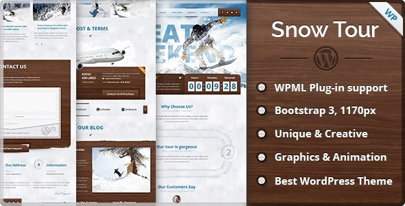 Snow Tour - WordPress Winter Travel Tour Theme