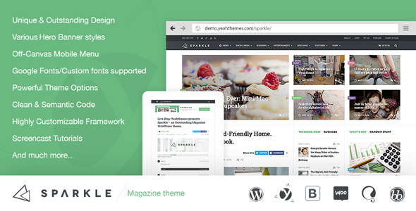Sparkle – A Mashable Clone WordPress Theme